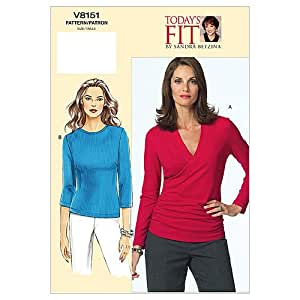 Vogue Sandra Betzina Pattern 8151 Misses Pullover Tops, Bust Size 32-34-36(缝纫用品)