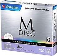 三菱化学媒体  M-DISC 1次刻录用 BD-R XL DBR100YMDP5V1 (单面3 层 / 2-4 倍速/ 5 片)