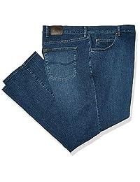 LEE 男式 Big & Tall 标准剪裁直筒牛仔裤