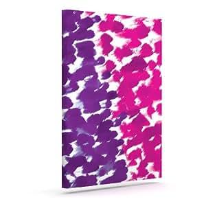 """Kess InHouse Emine Ortega""""Fleeting Purple""""户外帆布墙艺术 10"""" x 12"""" 紫色 EO1009AAC02"""