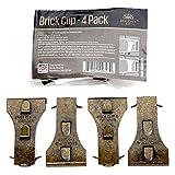 Holiday Joy - 金属砖夹紧固件挂钩 - *大承重 25 磅 - 适合高 5.7cm 至 6.35cm 的砖子 - 美国制造 4 Pack Metal.