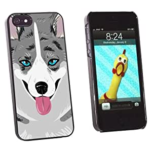 Graphics and More Cardigan Welsh Corgi Blue Merle Dog Pet Snap-On Hard Protective Case for Apple iPhone 5/5s - Non-Retail Packaging - Black