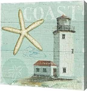 "PrintArt GW-POD-38-6563-16x16""Beach House II"" Lisa Audit Gallery Wrapped Giclee 油画艺术印刷品 20"" x 20"" GW-POD-38-6563-20x20"