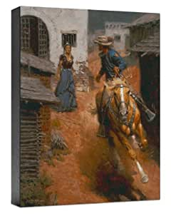 Somerset 精美艺术野马灰和蒙特里伯里之伯尔艺术微喷印于画布上,由 Andy Thomas,30.48 x 22.86 cm