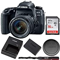 Canon EOS 77D EF-S 24.2MP 18-55 is STM (International Version) + 16GB 内存条