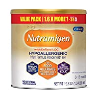 Enfamil 美贊臣鉑睿 Nutramigen Colic 低敏無乳糖嬰兒配方奶粉,19.8 盎司(561g)-含Omega 3 DHA,LGG,鐵