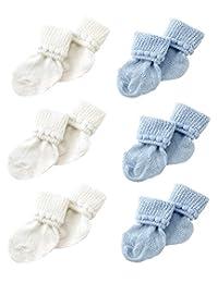 * Choice 新生儿短袜–Perfect 浴衣适用于0–3个月 (3双装) Blue & White 0-3 个月