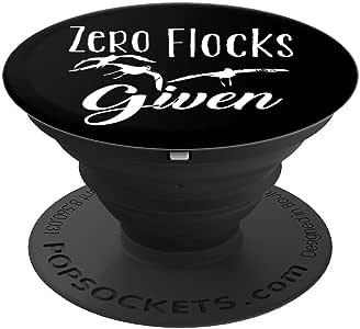 Funny Flamingo 女式礼物 Zero Flocks Given 单身女郎 PopSockets 握柄和支架 适用于手机和平板电脑260027  黑色