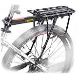 西部自行车 110 磅容量几乎通用可调节自行车货运架自行车设备支架脚垫自行车行李架带反光徽标