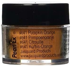 Jacquard Pearl EX 粉末颜料,3克 - 金属 - 古铜色 南瓜橙色 JACU641