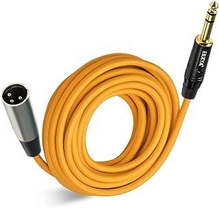 EBXYA1/4 TRS to XLR 公头麦克风插线电缆彩色 25 英尺,橙色