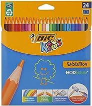 BIC KIDS EVOLUTION Ecolutions 彩笔 Pack of 24 彩色