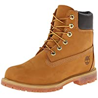 "Timberland Women's 6"" Premium Boot Wheat Nubuck Boot 6 B - Medium"
