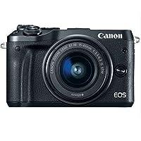 佳能 Canon 微单EOS M6 15-45mm套机 自拍数码相机 (M6(15-45)套餐版, 黑色)