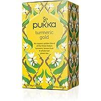 Pukka 金黄色姜黄 ,柠檬和全叶绿茶草本茶(4件,80包茶包)