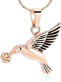 constantlife 925 纯银蜂鸟纪念品吊坠土星项链