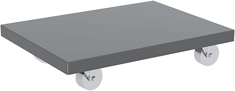 Akro-Mils Solid Deck Lips Down 粉末涂层钢质 Dolly 40.64cm x 68.58cm 带 7.62cm 半钢旋转脚轮 24 inch x 36 inch RD843SS2436