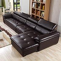 【下单赠价值998元真皮圆凳1个】ZUOYOU 左右 沙发现代简约头层牛皮真皮组合沙发大小户型皮沙发DZY2826 转二加休反向深咖色