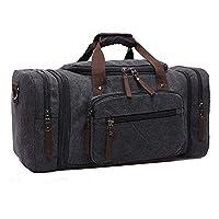 Beeiee 帆布旅行包 周末包 旅行包 运动行李包 带肩带的手提包