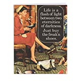 J4072BDG Jumbo Humor Birthday Greeting Card: Buy Fcking Shoes; With Envelope (Large Size: 8.5