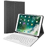 Fintie 键盘保护壳带内置铅笔架,适用于 iPad Air 2019 *三代/iPad Pro 10.5 英寸 2017 - SlimShell 支架盖,带磁性可拆卸无线蓝牙键盘