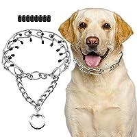 SuReady 狗爪项圈,不锈钢狗 Chole Pinch 训练项圈 带快速释放搭扣 适合大型犬(XL 码)
