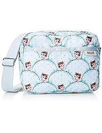 Lesportsac 女式 Paul & Joe系列时尚手提包 2435G432 蓝色/白色/黄色 18 * 24 * 11cm