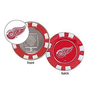 Detroit Red Wings 扑克筹码高尔夫球标。