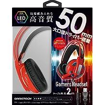 支持多种机型的耳机『游戏机头戴式耳机』 - Switch - PS4-Variation_P 红色