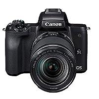 Canon 佳能 EOS M50 微单 数码 相机 (18-150f/3.5-6.3 IS STM)附送Aisying单反包 (套餐版, M50(18-150) 黑色)