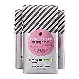 AmazonFresh Donut Cafe 全豆咖啡, 中度烘培, 12盎司(339.6克)(3件装)