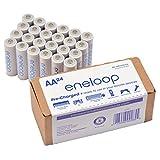 松下 eneloop AA 新款2100周期镍氢预充电可充电电池 24-Pack