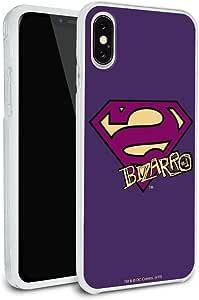 超人 Bizarro 盾徽保护纤薄混合橡胶缓冲手机壳,适用于 Apple iPhone 8、8 Plus、X iPhone X