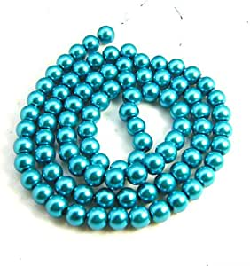 Uncommon Artistry 捷克玻璃黄铜圆形裂纹珠 6mm (50) Pearlized Teal 10mm (50 pcs) GBMix