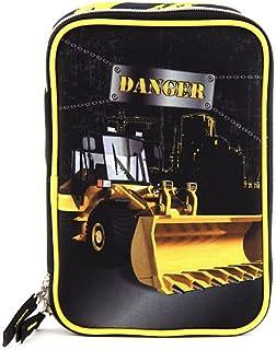 Target Target Danger Baggerlader Schüleretui 书包套装,23 厘米,黑色 (Schwarz/Gelb)