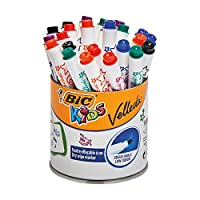BIC Kids Mini VELLEDA Whiteboard - Marker ( 干燥可擦洗 ) 鼓带24件
