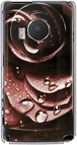 【SoftBank 101P LUMIX Phone】 CaseMarket 原创设计 聚碳酸酯材质 透明硬壳 [水 玫瑰 经典 设计]101P-2P0767 レッド (2D印刷)