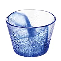 Toyo sasaki 东洋佐佐木玻璃 流苍 日本制造 可应对洗碗机 玻璃碗 蓝色 約φ9.2×6.5cm P-43315-F/B-JAN