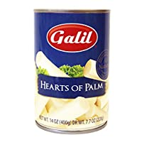 Galil Whole Hearts of Palm, Natural/Non-GMO 14-Ounce Cans (Pack of 12)