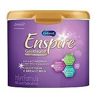 Enfamil Enspire 美赞臣蓝臻 Gentlease 婴儿配方奶粉 适合0-12个月婴儿 20盎司/约566.99克 1件 MFGM,乳铁蛋白(在初乳中发现),Omega 3 DHA,铁,益生菌