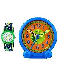 Timex 男童 Unisex-Children Time Machines Teaching ToolkitTWG014900  Analog Elastic Fabric 藍色 TWG0149002G watches