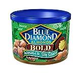 Blue Diamond Almonds 大胆的芥末酱油味, 6 Ounce/170g ( 6包 )