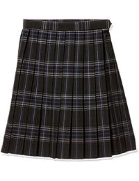 [科诺米] 制服 学校 裙子 百褶 上学用 格子 高中生 中学生 学生 黑色×蓝色 女款 ARCS-1084
