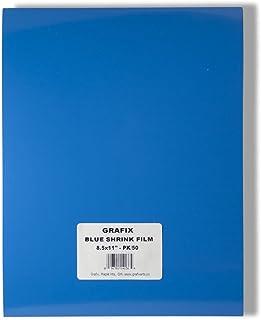 Grafix KSF50-BL 8-1/2-Inch by 11-Inch Shrink Film, Blue, 50-Pack