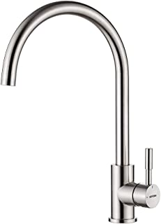 GRIFEMA GRIFERÉA DE COCINA-G4008 不锈钢厨房搅拌水龙头,360 度旋转喷头,3/8 英寸(约 0.8 厘米)软管,镀镍拉丝