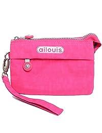【法国品牌】AILOUIS爱路易新款女手拿包 零钱包化妆包手机包韩版水洗布女护照包