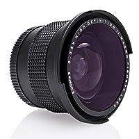 opteka 0.35X 高清超广角全景 MACRO fisheye 镜头适用于佳能 EOS 80d ,70d ,60d ,60DA ,50d ,1ds ,7d ,6d ,5d ,5DS , REBEL T6S 、 t6i , T6, t5i , T5、 t4i 、 T3i 、 T3、 T2i 和 SL1数码单反相机