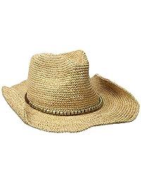physician endorsed 女式 SIERRA 钩针*椰太阳帽带金色微光, rated UPF 30适用于防晒