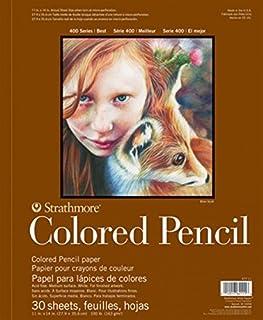 "Strathmore 400 系列彩色铅笔垫,线装,30 张 白色 11""X14"" 62477180"