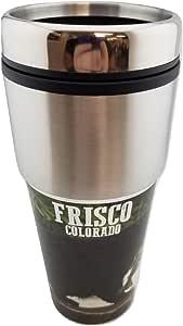 不锈钢 567g 旅行杯 - 户外狩猎纪念品马克杯 男式 - 送给猎人、爸爸、丈夫、兄弟、叔叔的*礼物 Frisco CO Black Bear 20 OZ